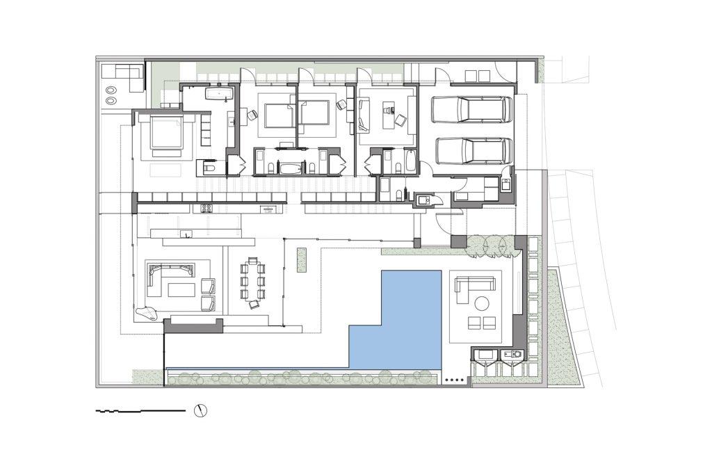 Plans d'étage - Résidence Cormac - 1027 White Sails Way, Corona del Mar, CA, États-Unis