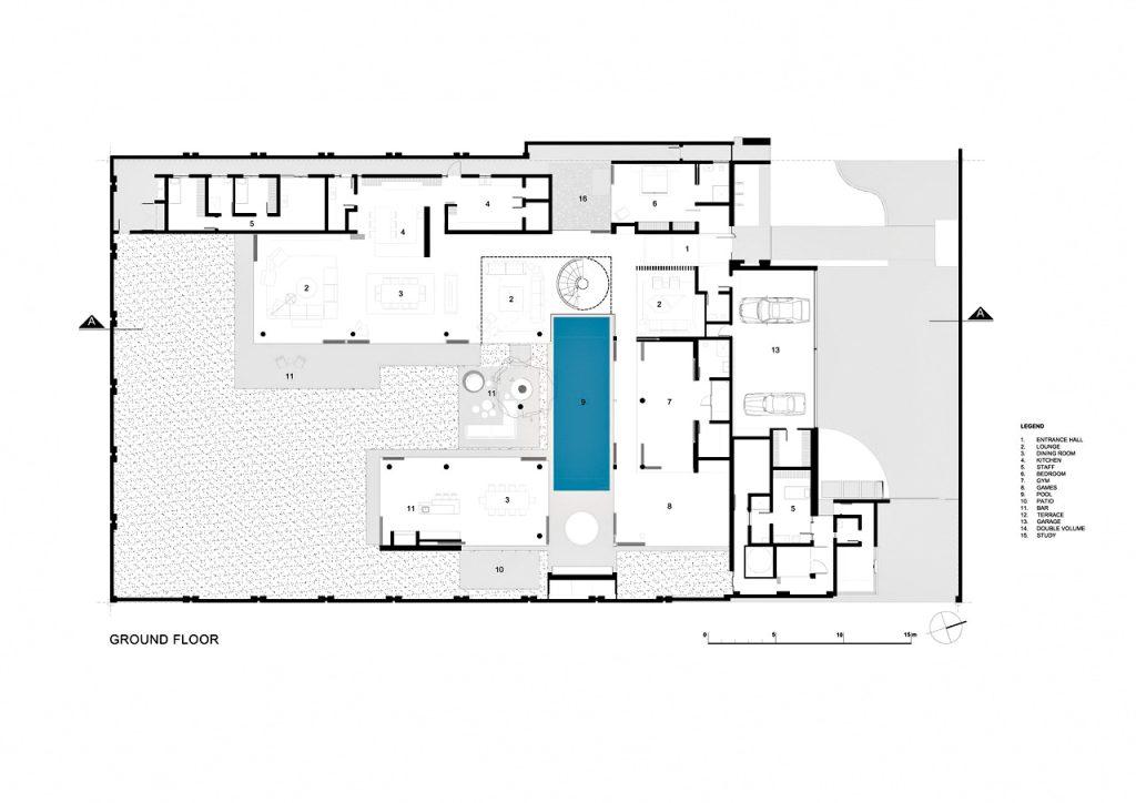 Plans d'étage - 6e 1448 Houghton Résidence ZM - Johannesbourg, Gauteng, Afrique du Sud