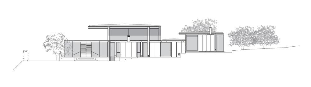 Sections - Plans du site - Résidence Ladera - Montecito, CA, États-Unis