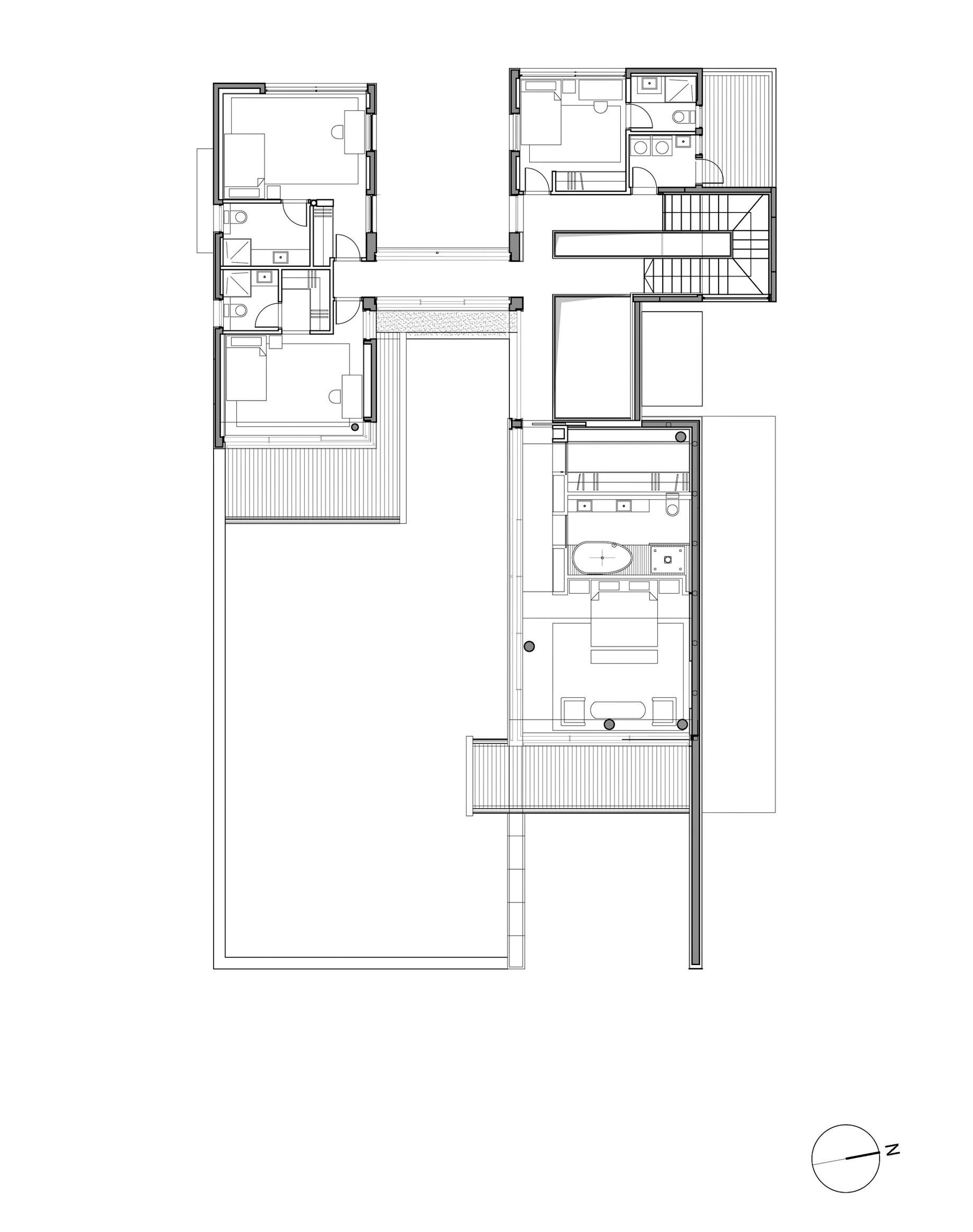 Plans d'étage - Résidence Villa C - Césarée, Haïfa, Israël