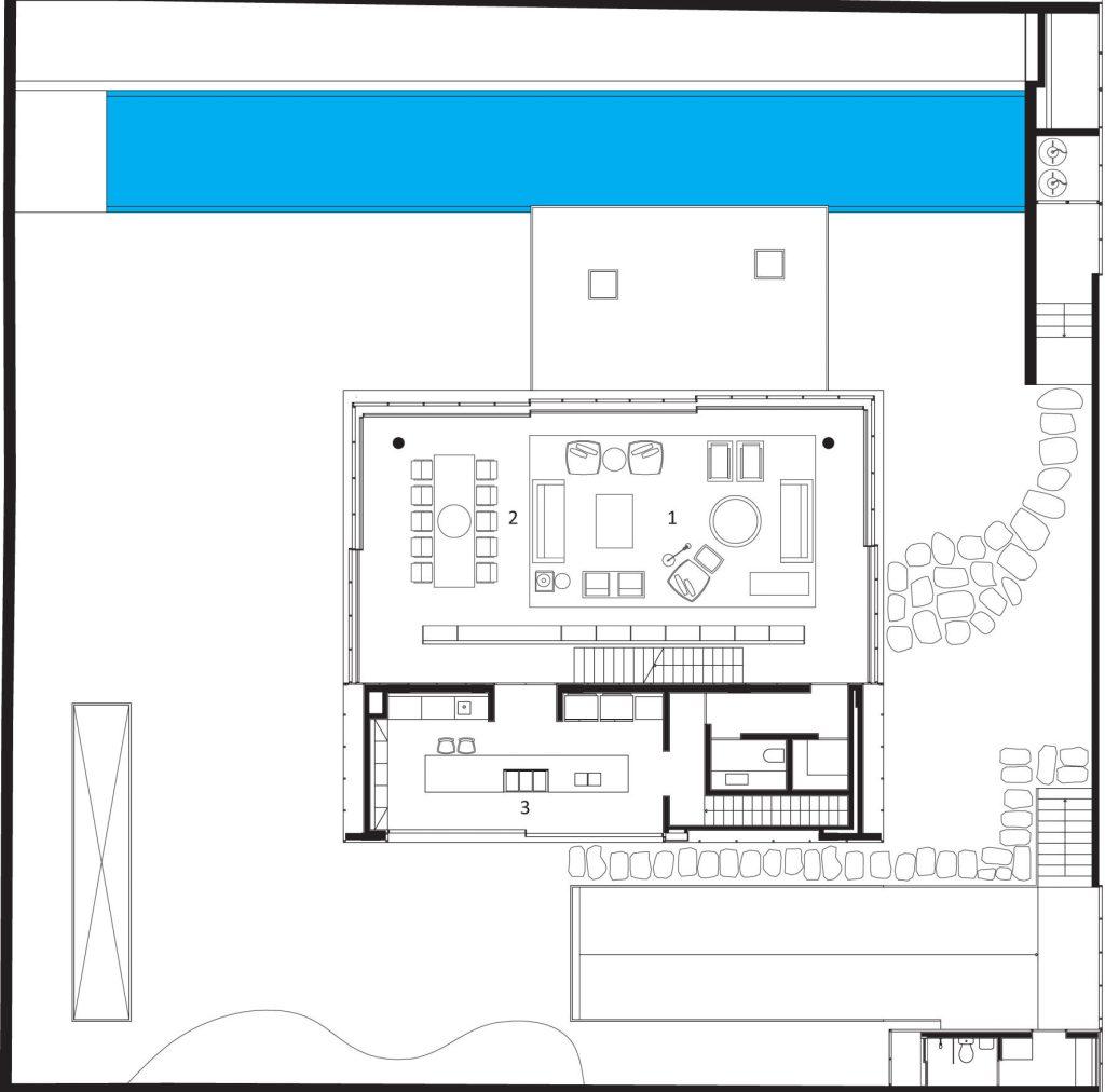 Site du plan - Maison Cube - São Paulo, Brésil