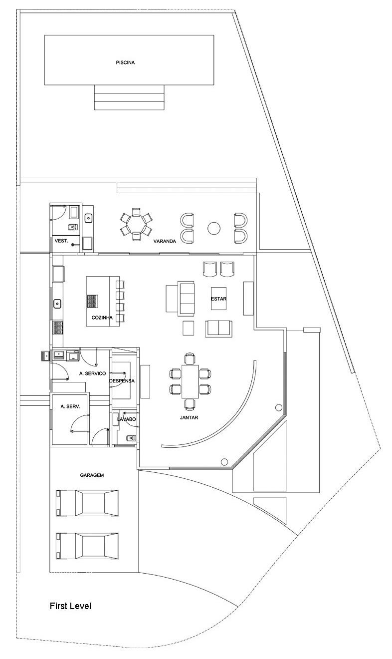 Plans d'étage – Résidence NJ – Campinas, São Paulo, Brésil