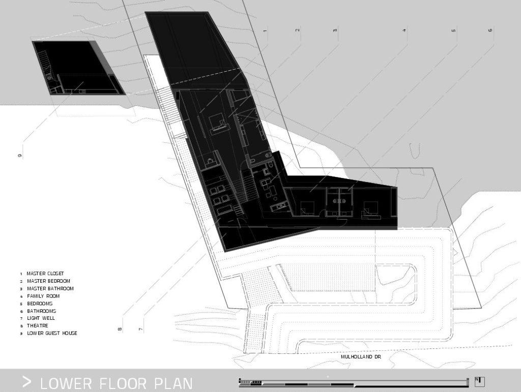 Plans d'étage - Résidence MUL par VOID - 7691 Mulholland Drive, Los Angeles, CA, États-Unis