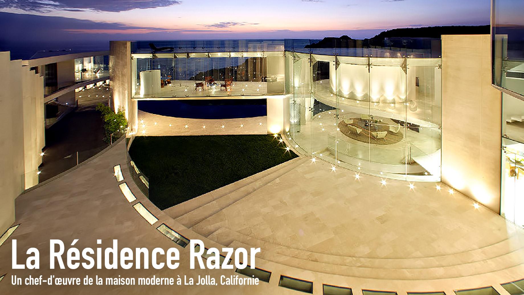 La Résidence Razor - Un chef-d'œuvre de la maison moderne à La Jolla, Californie