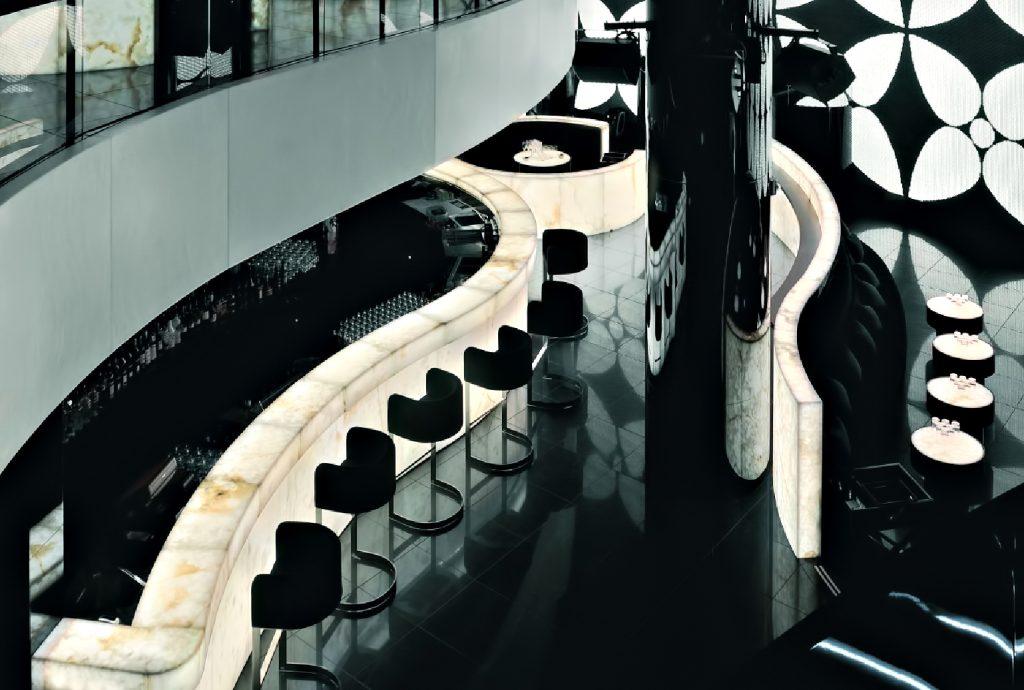 Armani Hotel Dubai - Burj Khalifa, Dubaï, Émirats arabes unis - Bar et salon de la discothèque Armani Prive
