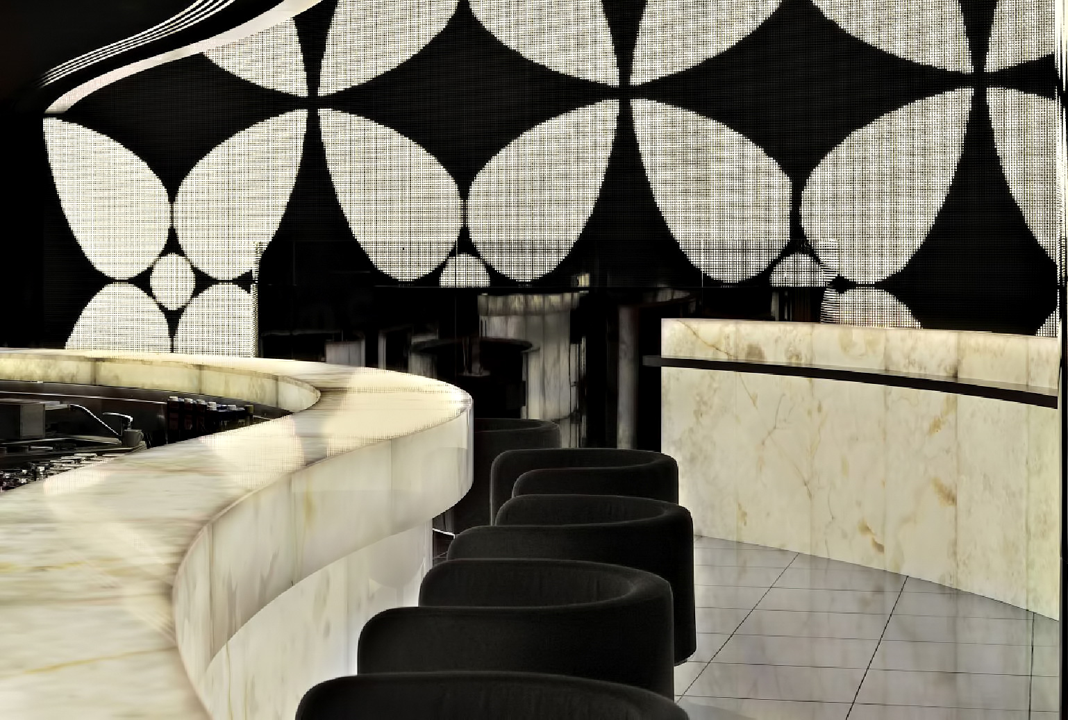 Armani Hotel Dubai - Burj Khalifa, Dubaï, Émirats arabes unis - Sièges de bar Armani Prive Night Club