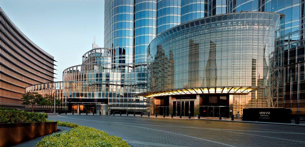 Armani Hotel Dubai - Burj Khalifa, Dubaï, Émirats arabes unis - Entrée extérieure de l'hôtel Armani Dubai
