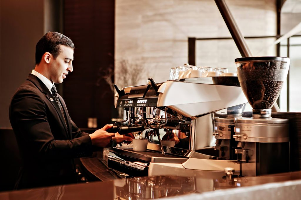 Armani Hotel Dubai - Burj Khalifa, Dubaï, Émirats arabes unis - Bar à café Armani Cappuccino