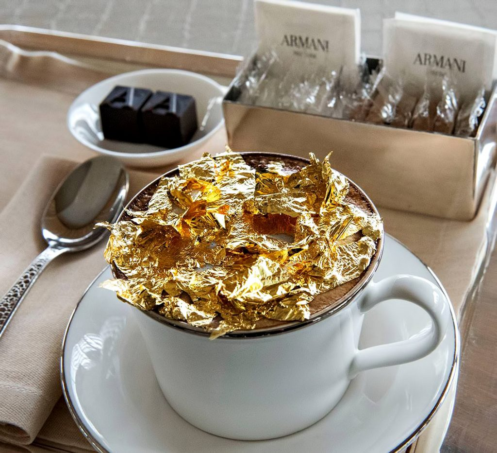 Armani Hotel Dubai - Burj Khalifa, Dubaï, Émirats arabes unis - Cappuccino doré Armani Signature