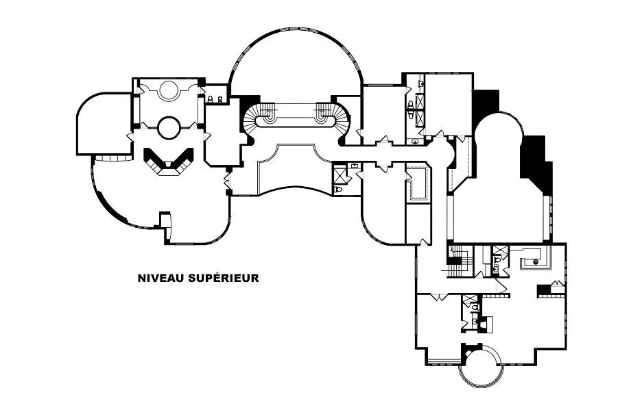 Plans d'étage - La maison de Michael Jordan à Chicago - Legend Point à Highland Park, IL, États-Unis