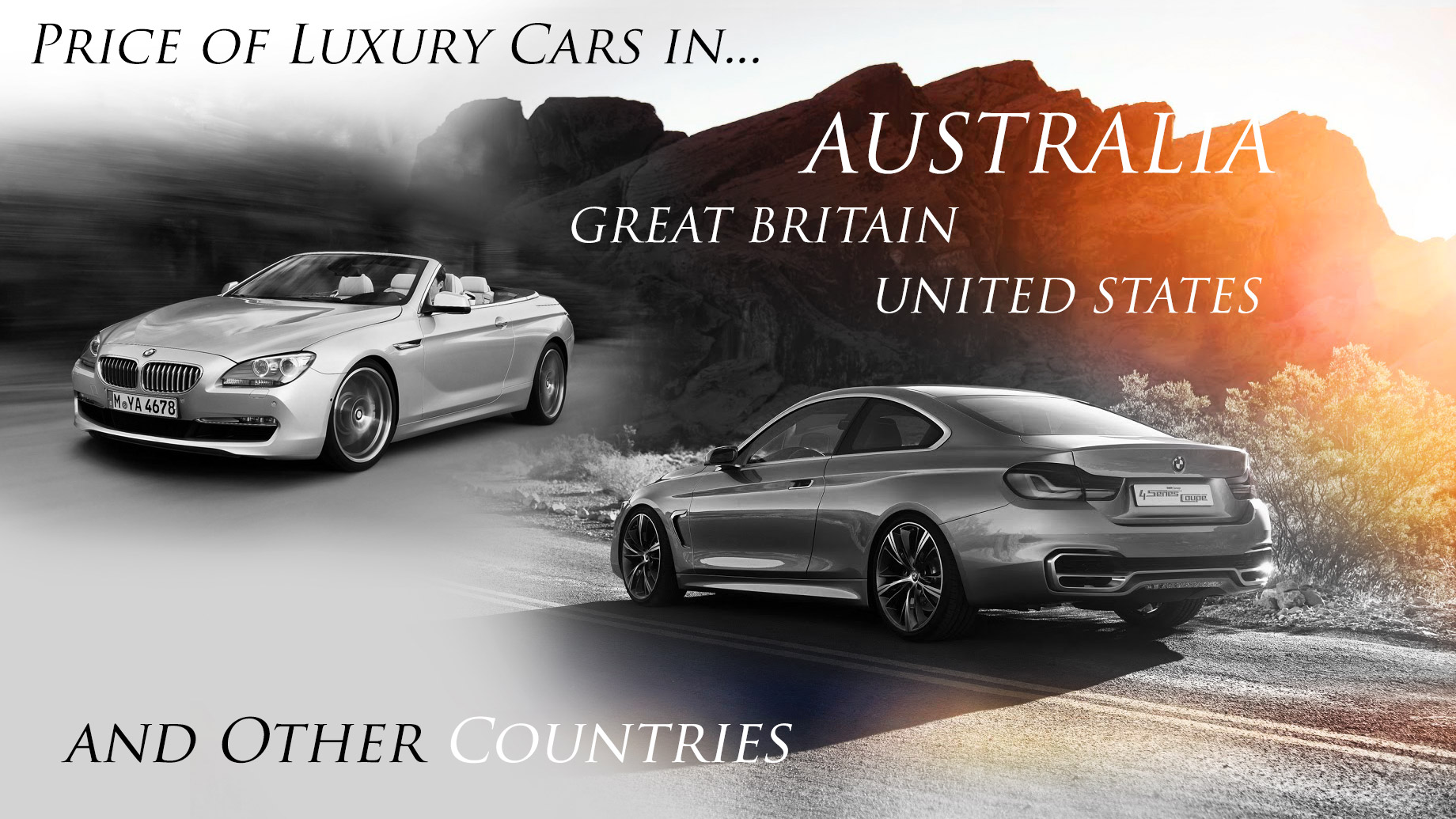Price of Luxury Cars in Australia vs. Great Britain, America, and Other Countries