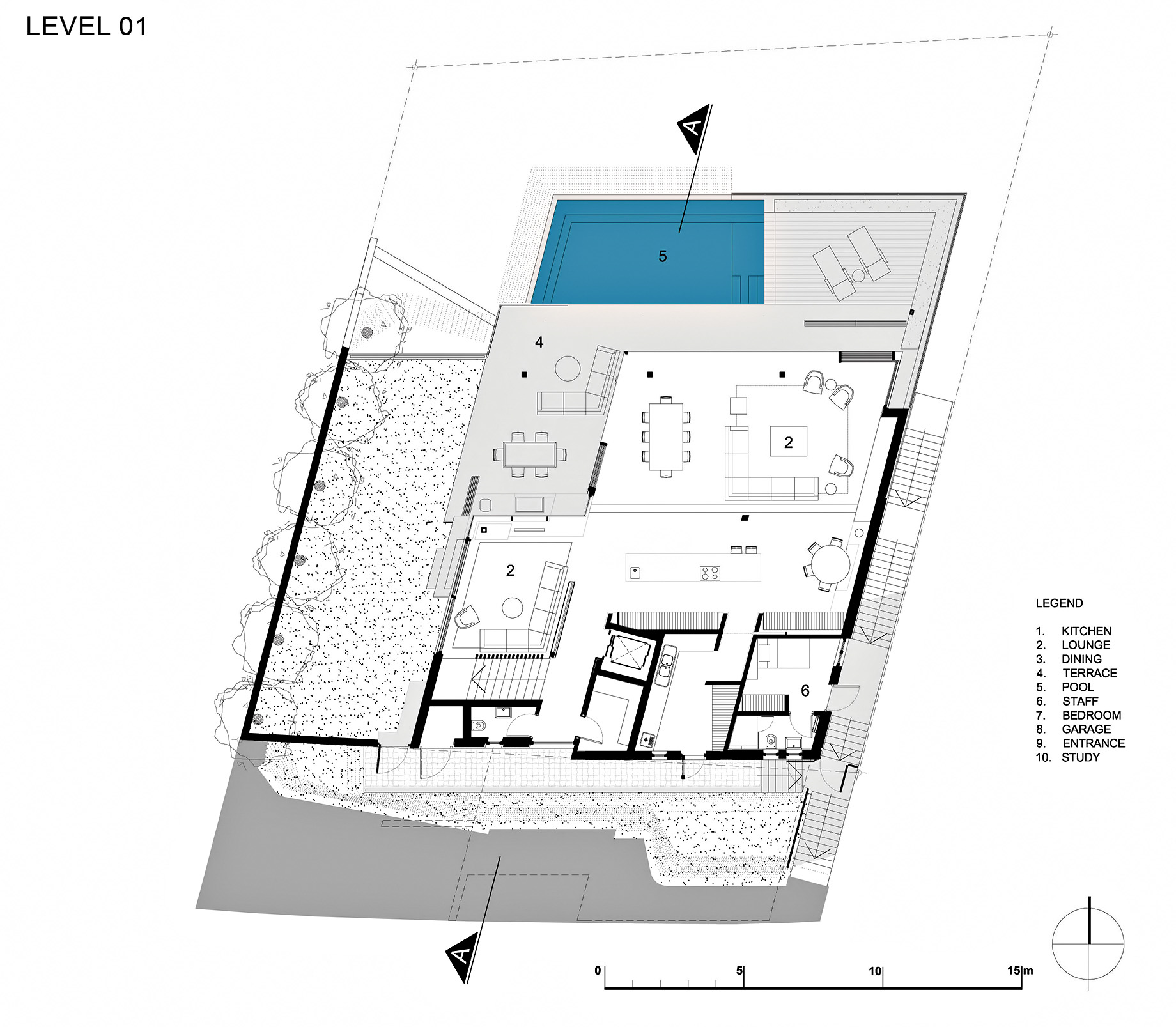 Floor Plans - Level 1 - Head Road 1816 - Fresnaye, Cape Town, Western Cape, South Africa