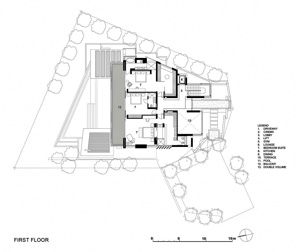 First Floor Plan – Head Road 1843 – Fresnaye, Cape Town, Western Cape, South Africa