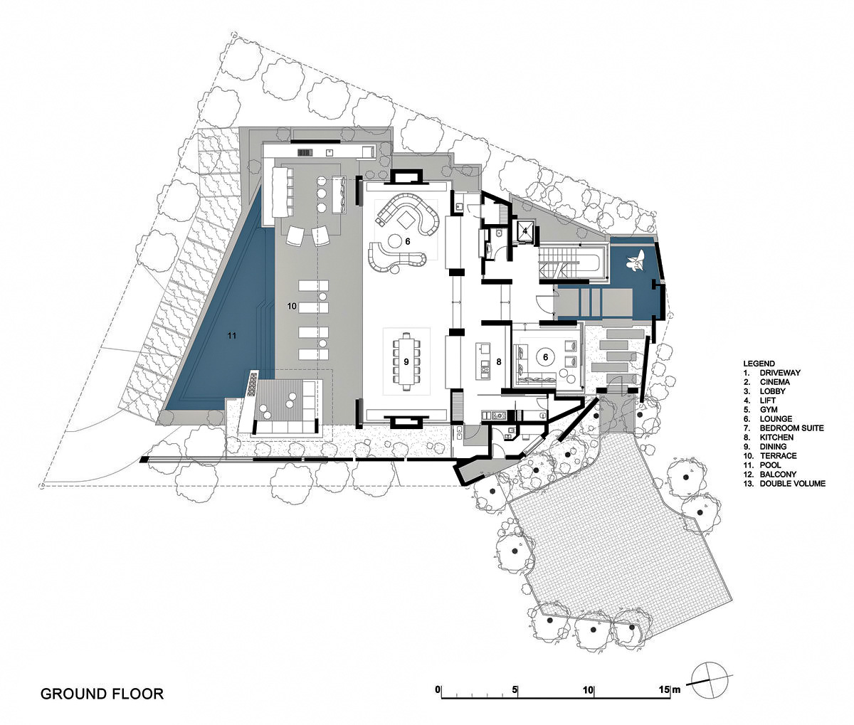 Ground Floor Plan - Head Road 1843 - Fresnaye, Cape Town, Western Cape, South Africa