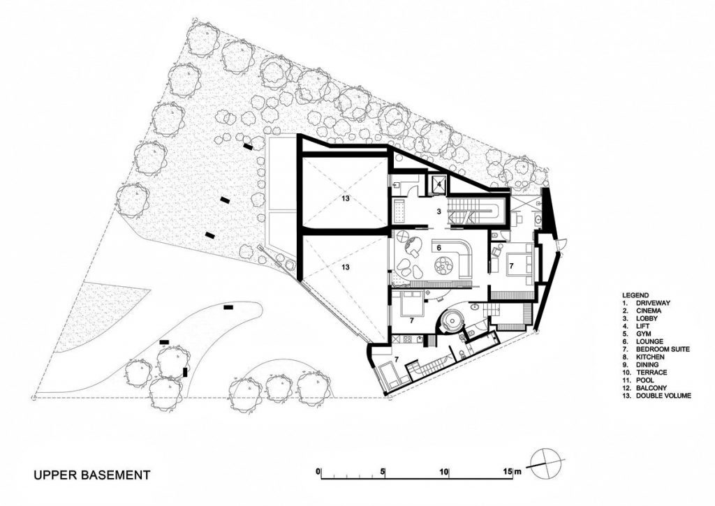 Upper Floor Plan - Head Road 1843 - Fresnaye, Cape Town, Western Cape, South Africa
