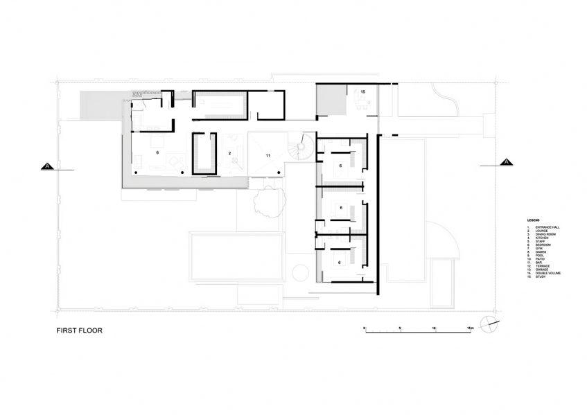 First Floor Plan - 6th 1448 Houghton Residence ZM - Johannesburg, Gauteng, South Africa
