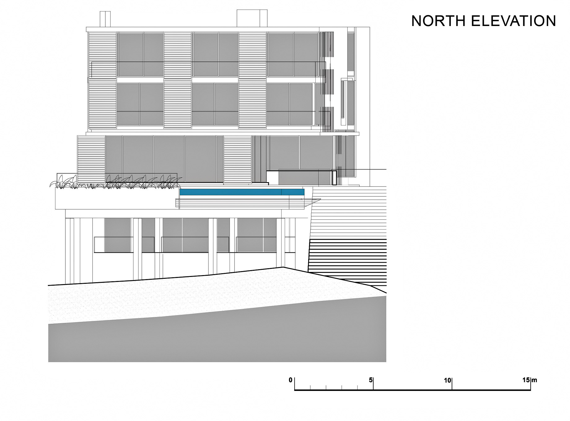 North Elevation - Level 3 - Head Road 1816 - Fresnaye, Cape Town, Western Cape, South Africa