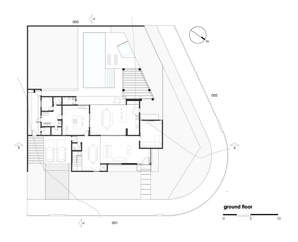Ground Floor Plan - Atenas 038 House - Goiânia, Goiás, Brazil