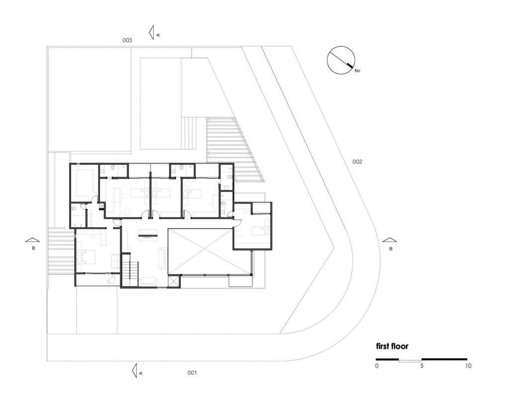 First Floor Plan - Atenas 038 House - Goiânia, Goiás, Brazil