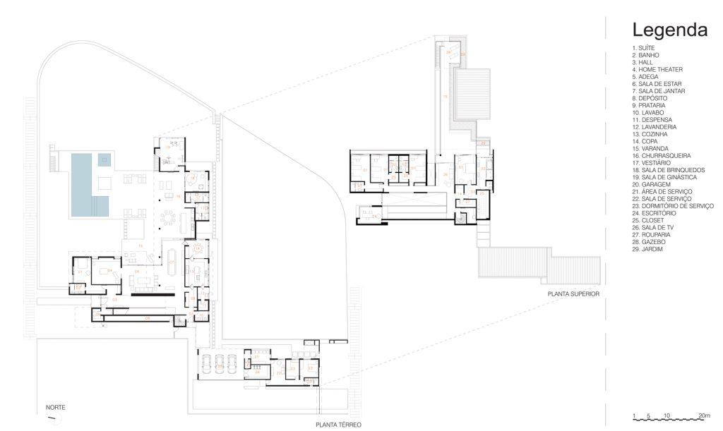 Floor Plans - FG Residence - Araraquara, São Paulo, Brazil