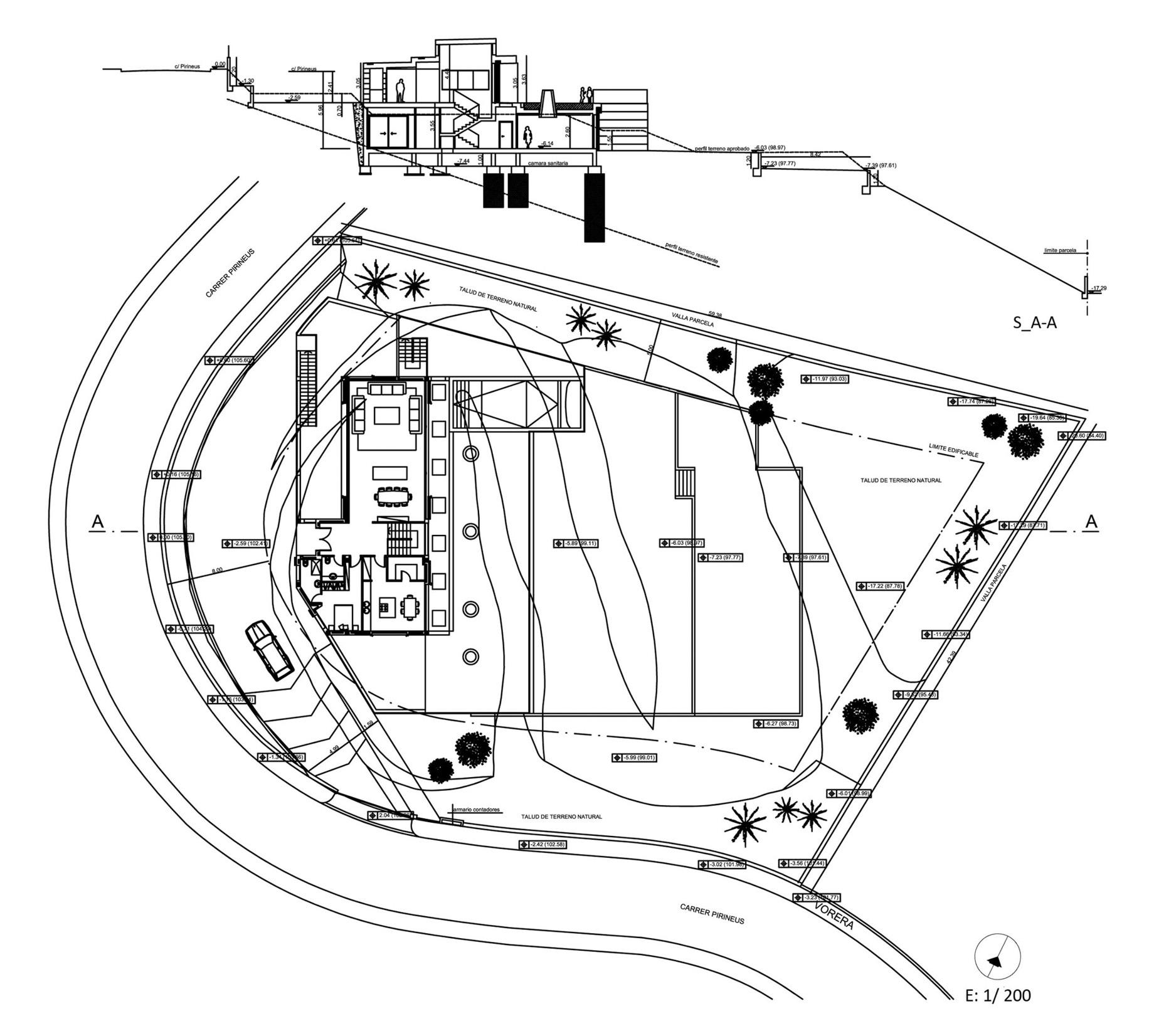 Site Plan - Santa Cristina d'Aro Residence - Girona, Catalonia, Spain
