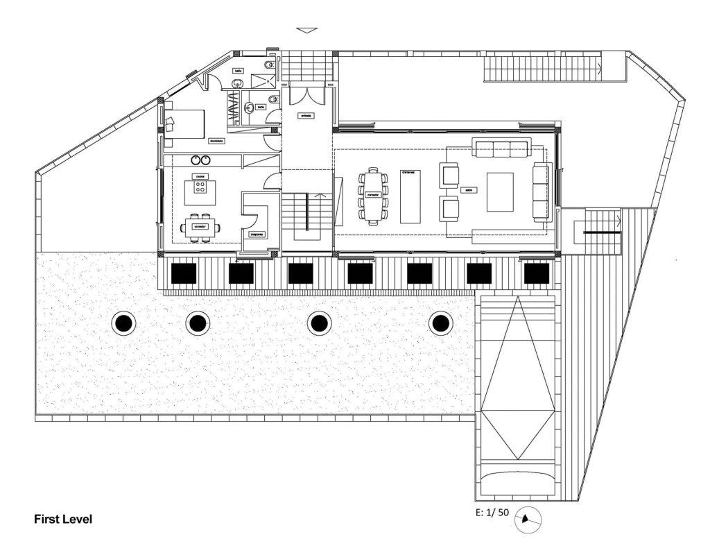 First Level Floor Plan - Santa Cristina d'Aro Residence - Girona, Catalonia, Spain