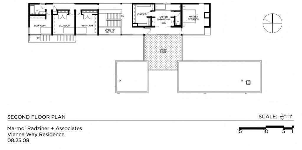 Second Floor Plan - Vienna Way Residence - Venice, CA, USA