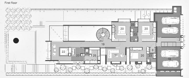 First Floor Plan - 18 Verdant Avenue - Toorak, Melbourne, Victoria, Australia