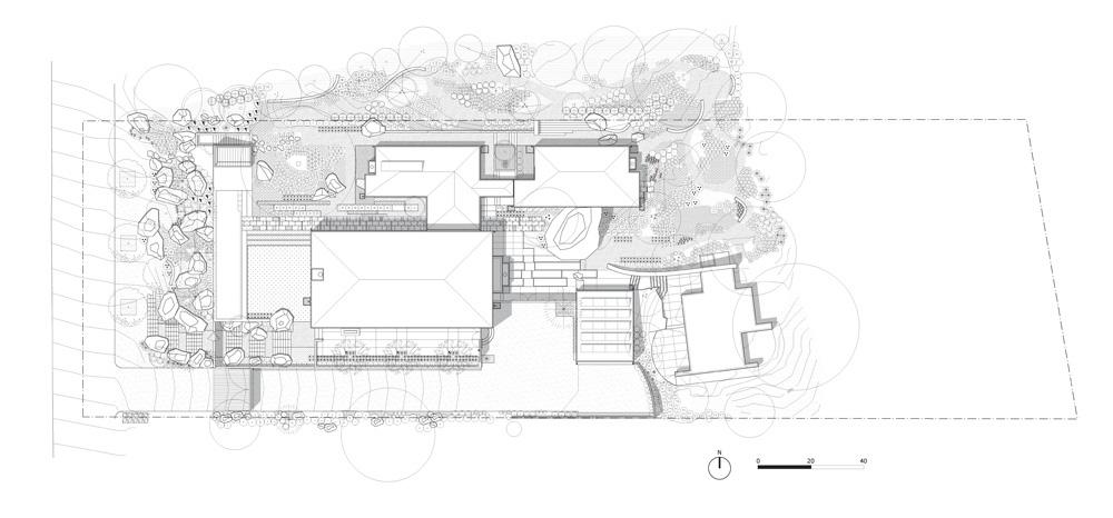 Site Plan - Ladera Residence - Montecito, CA, USA