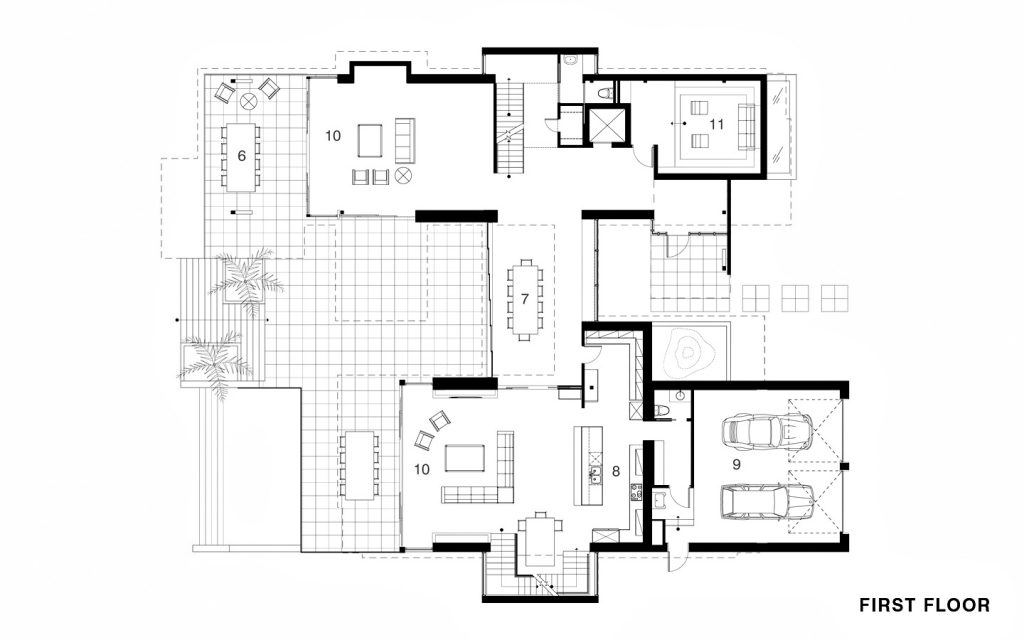 First Floor Plan - River Road Residence - 83 S River Rd, Stuart, FL, USA