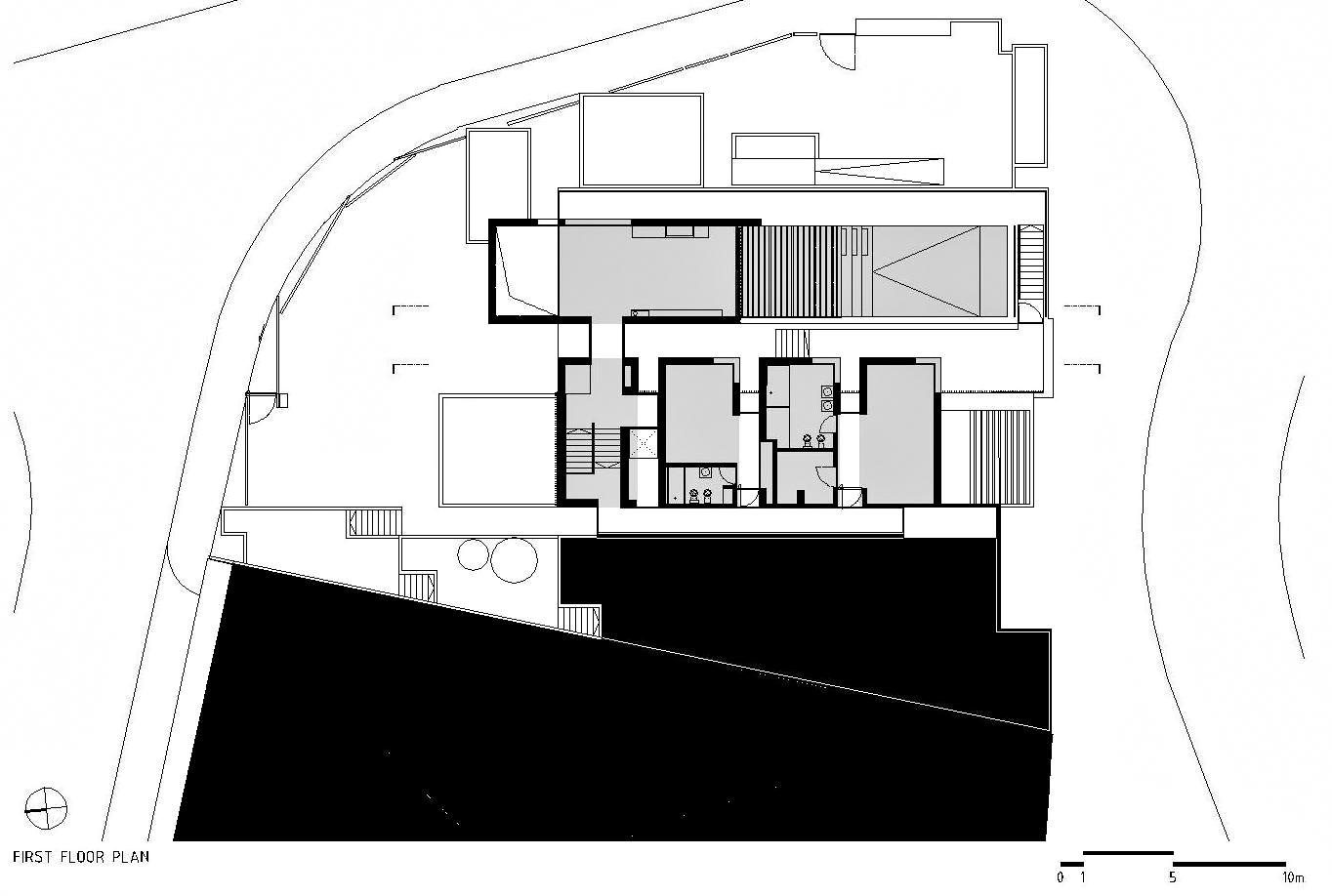 First Floor Plan – Paço de Arcos House – Oeiras, Lisbon, Portugal