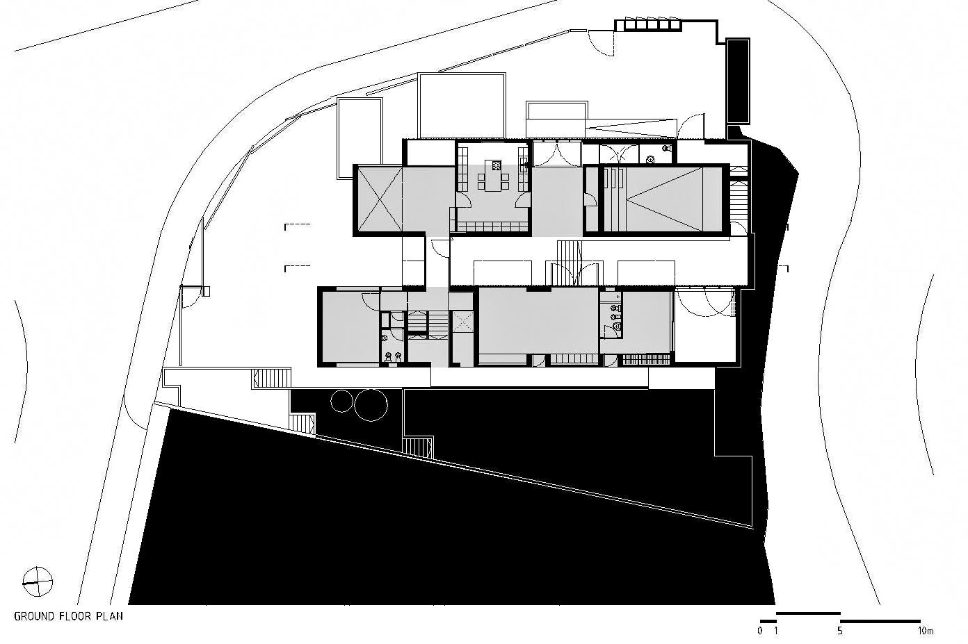 Ground Floor Plan – Paço de Arcos House – Oeiras, Lisbon, Portugal