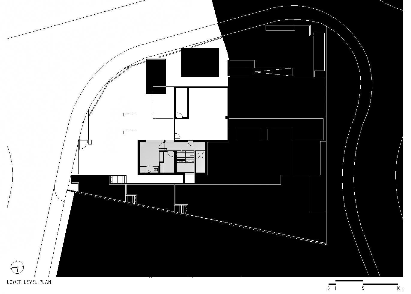 Lower Level Floor Plan - Paço de Arcos House - Oeiras, Lisbon, Portugal