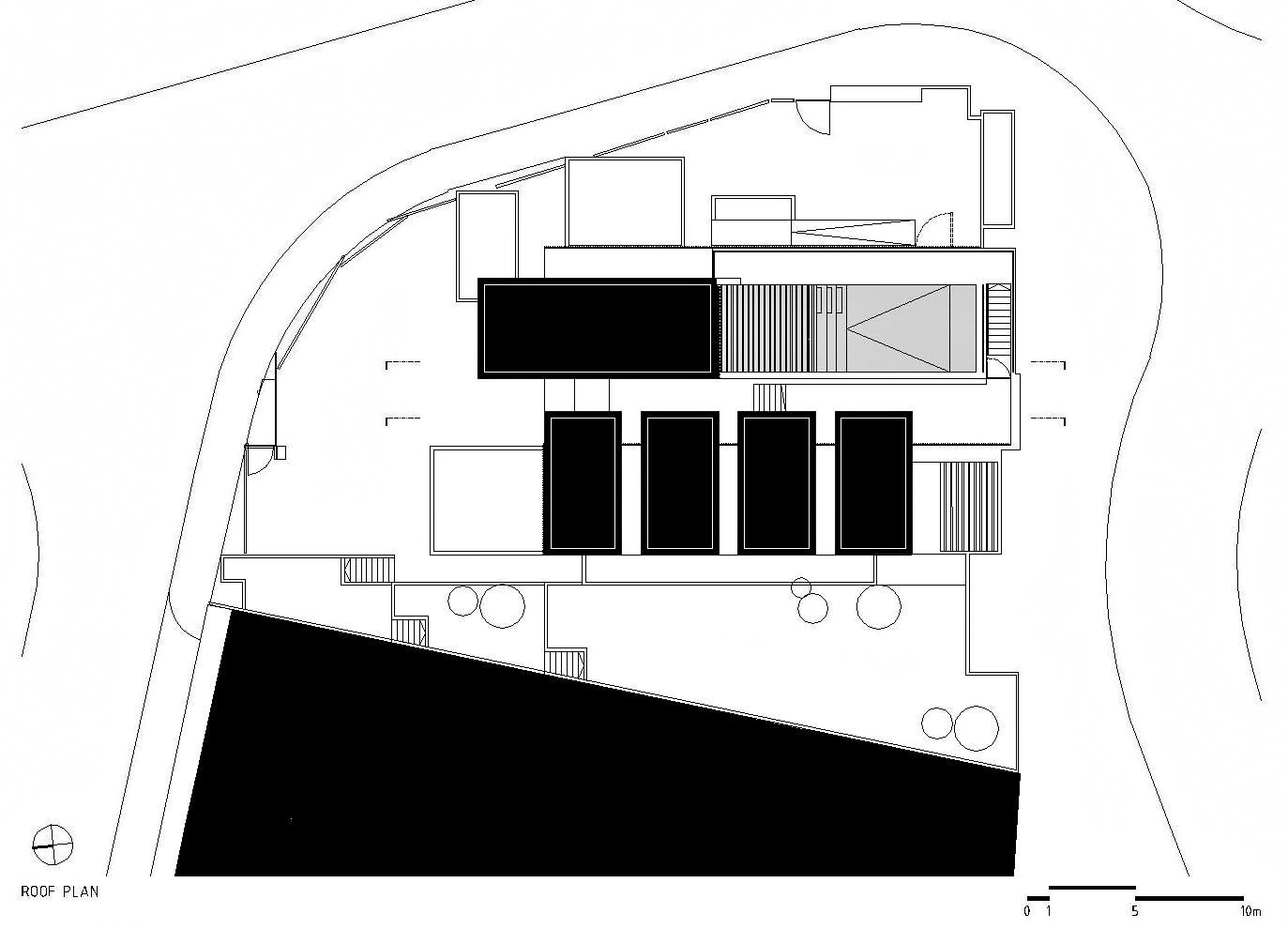 Roof Floor Plan – Paço de Arcos House – Oeiras, Lisbon, Portugal
