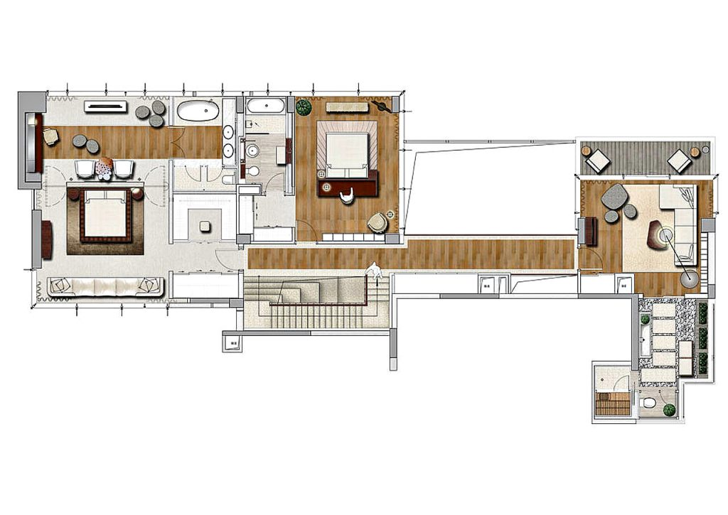 Floor Plans - House of the Tree Penthouse - Shenzhen, Guangdong, China