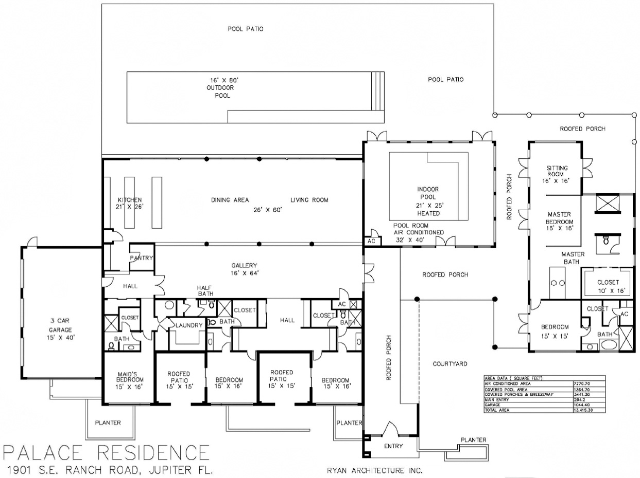 Floor Plans – Palace Residence – 1901 SE Ranch Rd, Jupiter, FL, USA