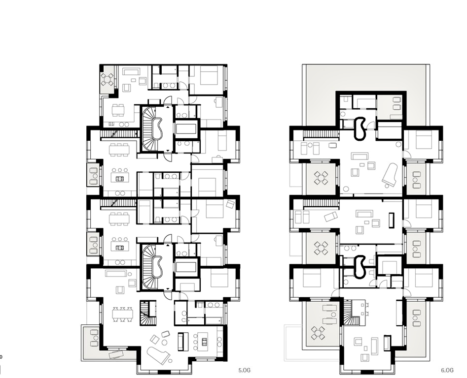 Floor Plans - Yoo by Starck Luxury Apartment - Hafencity, Hamburg, Germany