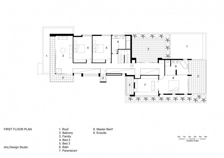 First Floor Plan - 36 Kangaroo Point Road Residence - Kangaroo Point, Sydney, NSW, Australia