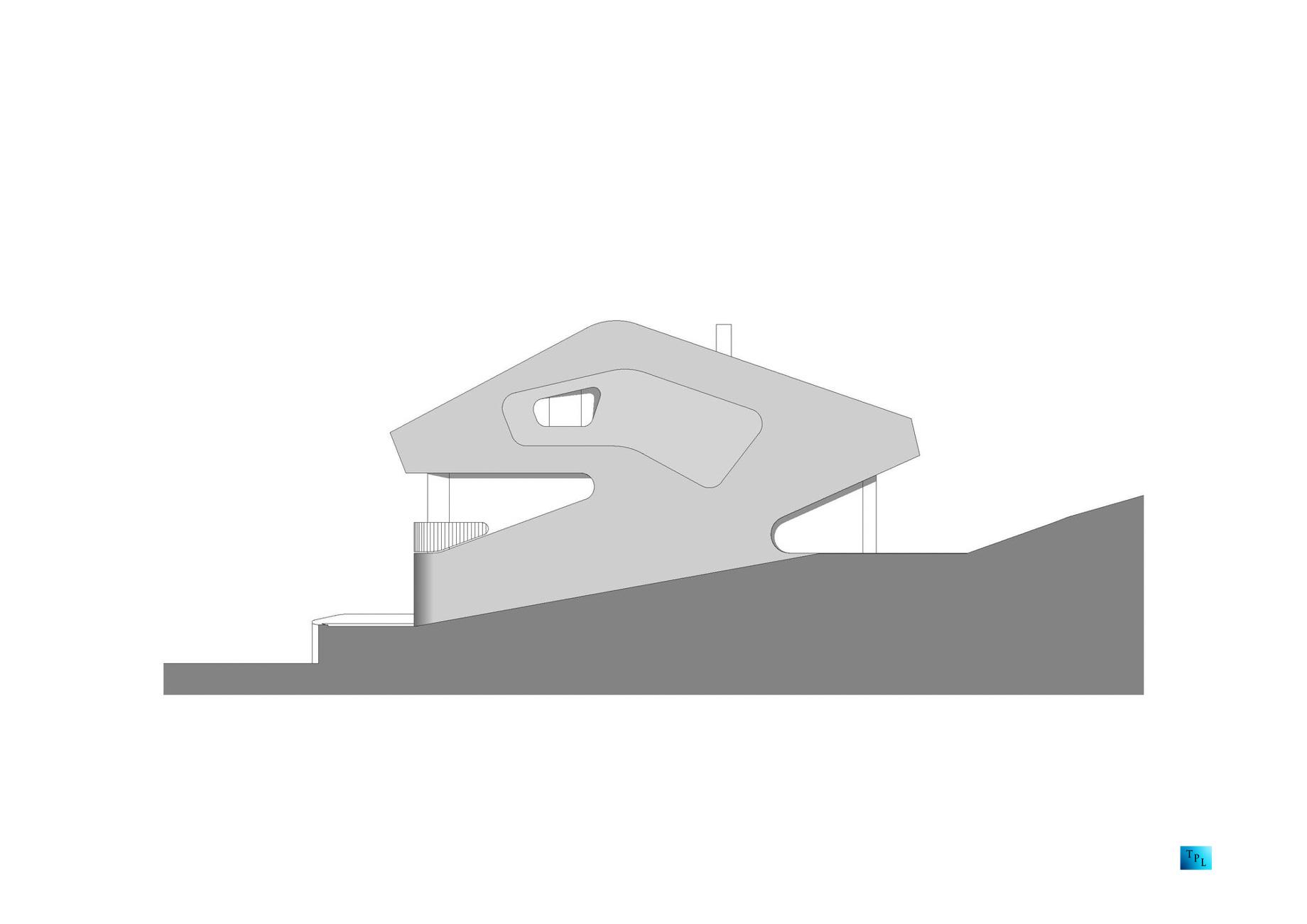 Section - OLS House - Stuttgart, Baden-Württemberg, Germany