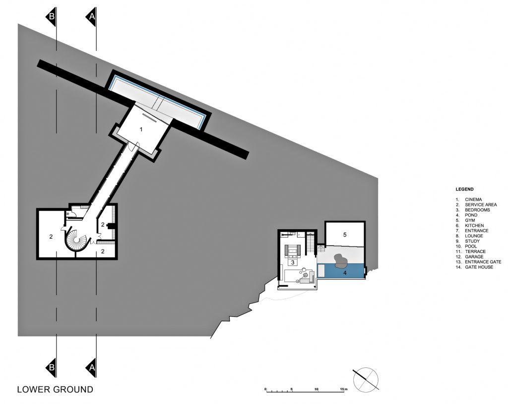 Lower Ground Floor Plan - Dakar Sow Residence - Dakar, Senegal