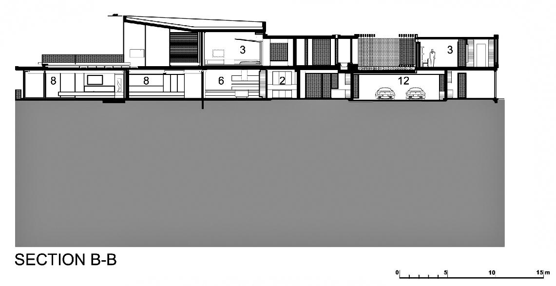 Section B-B – Dakar Sow Residence – Dakar, Senegal