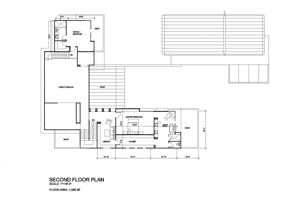 Second Floor Plan - Tenaya Residence - 1640 S Tenaya Way, Las Vegas, NV, USA