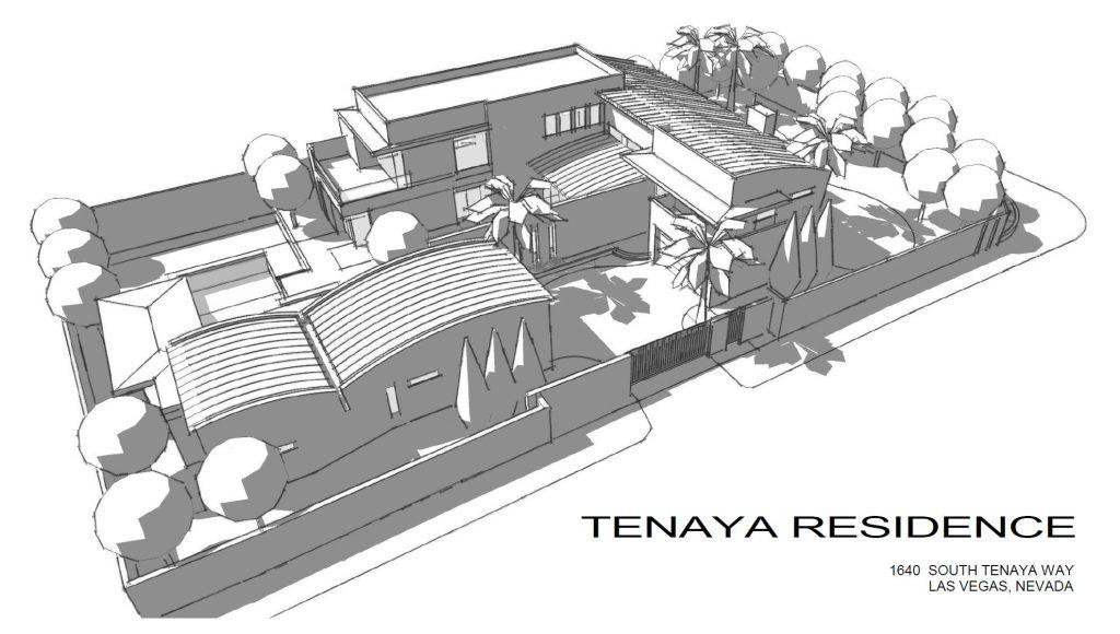 Sketch - Tenaya Residence - 1640 S Tenaya Way, Las Vegas, NV, USA