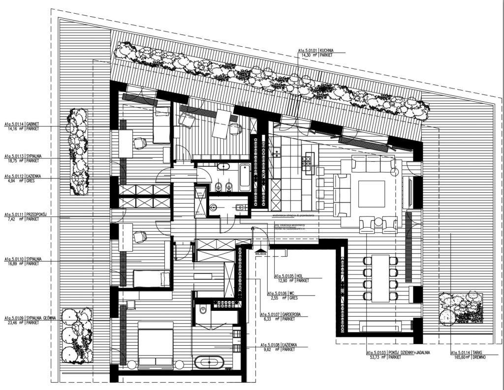Floor Plans - Nowe Powisle Luxury Penthouse - Warsaw, Poland