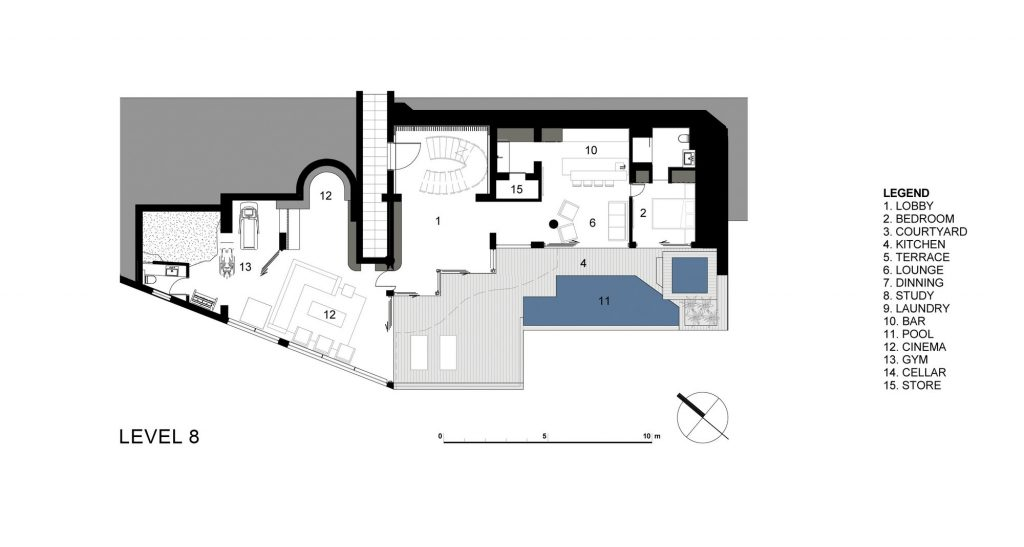 Level 8 Floor Plan - Clifton View 7 Luxury Apartment - Cape Town, South Africa