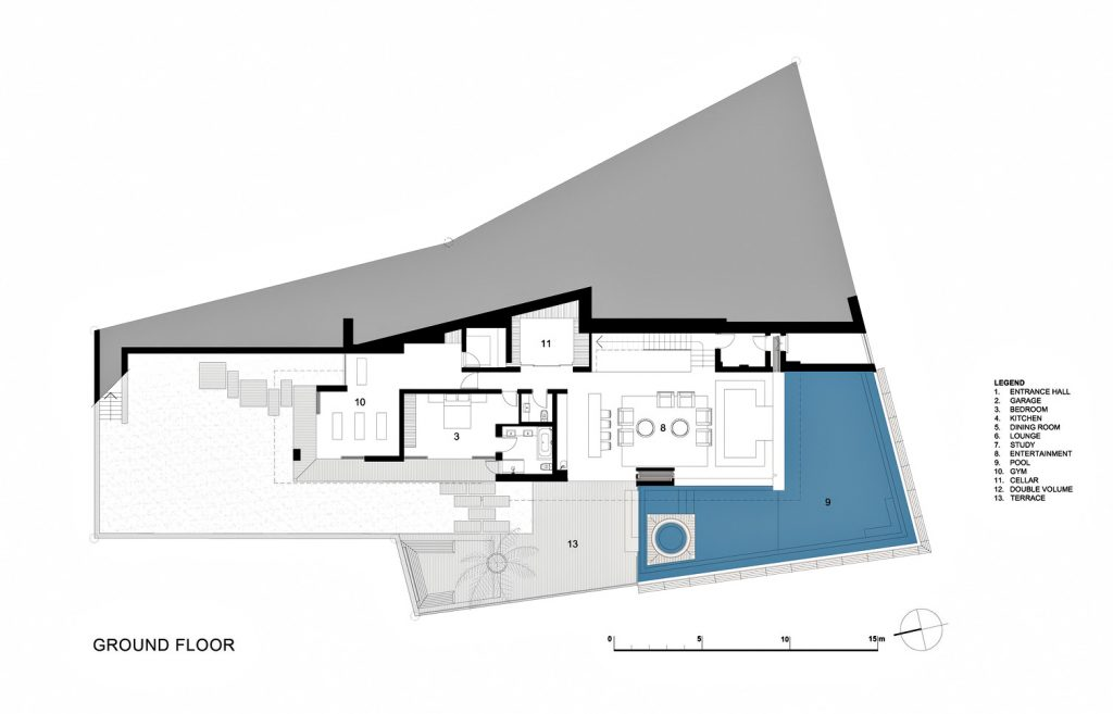 Ground Floor Plan - St. Leon 10 Residence - Bantry Bay, Cape Town, Western Cape, South Africa