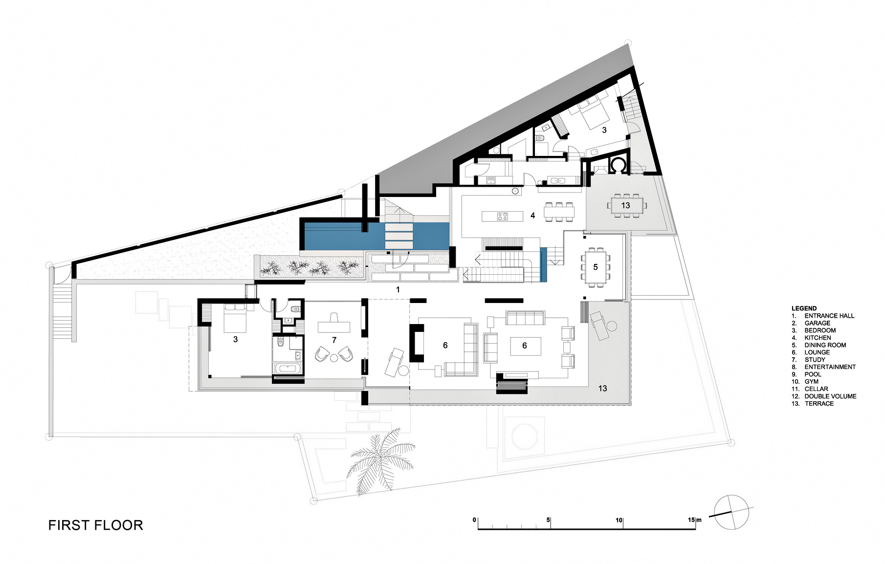 First Floor Plan - St. Leon 10 Residence - Bantry Bay, Cape Town, Western Cape, South Africa