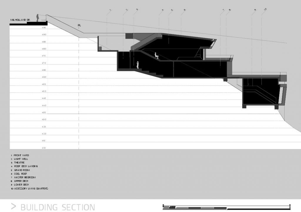 Section - MUL Residence by VOID - 7691 Mulholland Drive, Los Angeles, CA, USA