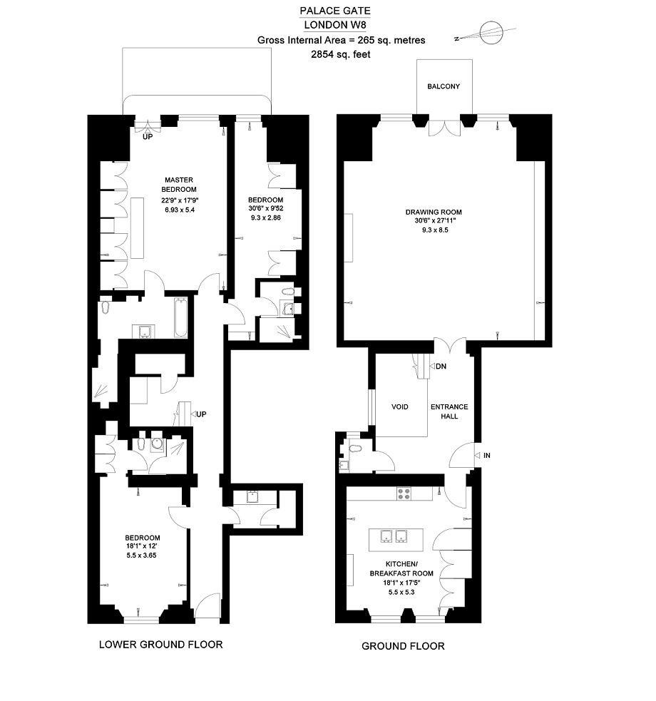 Floor Plans - Apartment 1 - 6 Palace Gate, London, England, UK