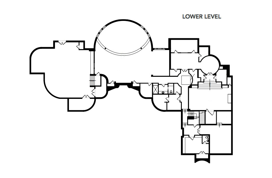 Lower Level Floor Plan - Michael Jordan's Chicago Home - Legend Point at 2700 Point Drive, Highland Park, IL, USA